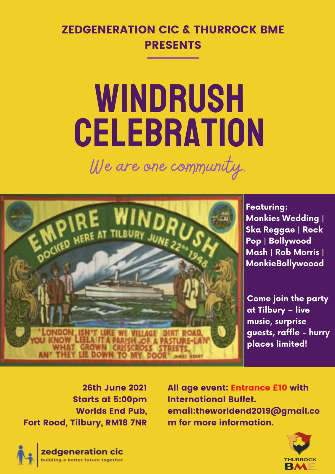 Windrush 2021 flier